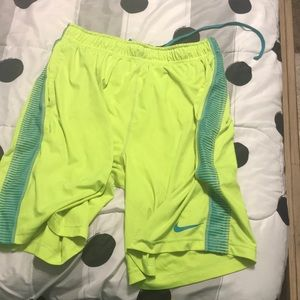 Other - Neon Nike dry fit basketball shorts